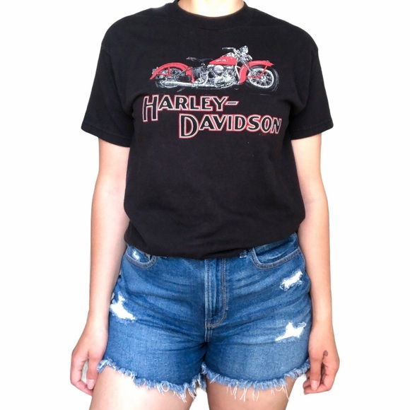 Harley Davidson fitted motorcycle tee black Mexico